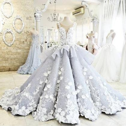 Pretty Ball Gown Wedding Dress,Prin..