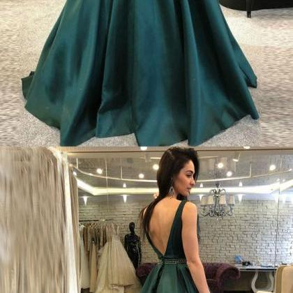 A-Line Prom Dress,Backless Prom Dre..