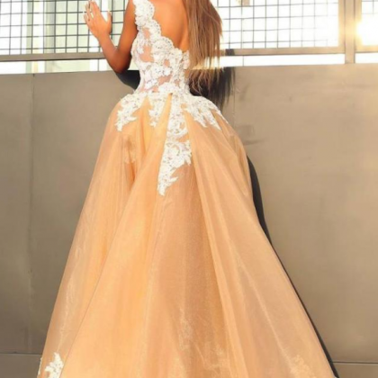 Splendid Organza Evening Dresses,V-..