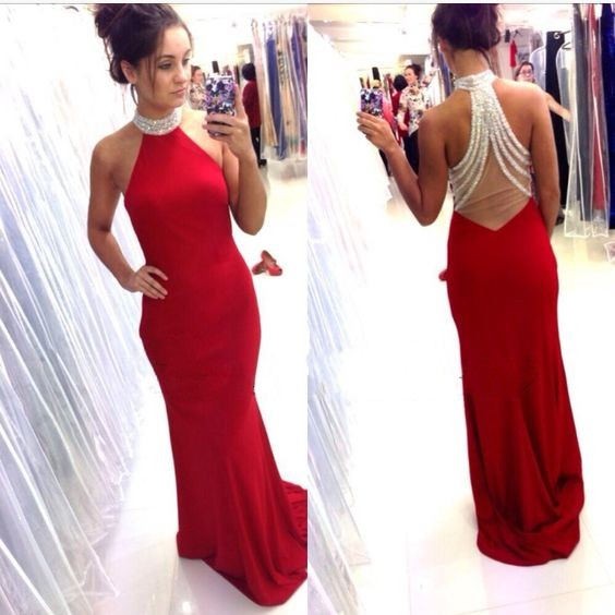 Sexy back red cocktail dresses