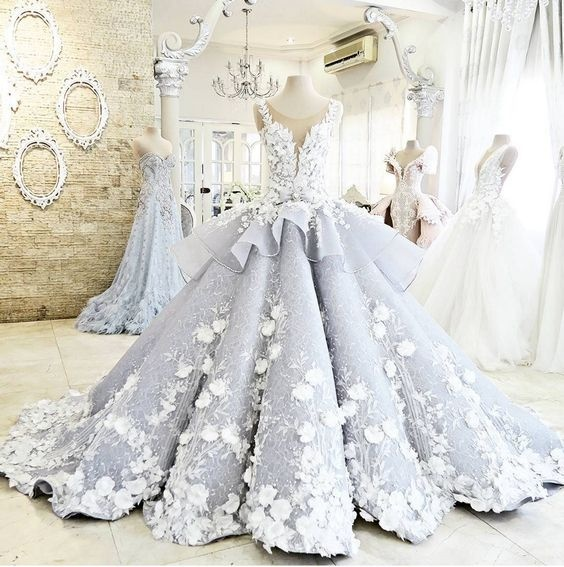 Pretty Ball Gown Wedding Dress,Princess Wedding Dresses,Modest Wedding Dress.Evening Dresses,Bridal Dresses