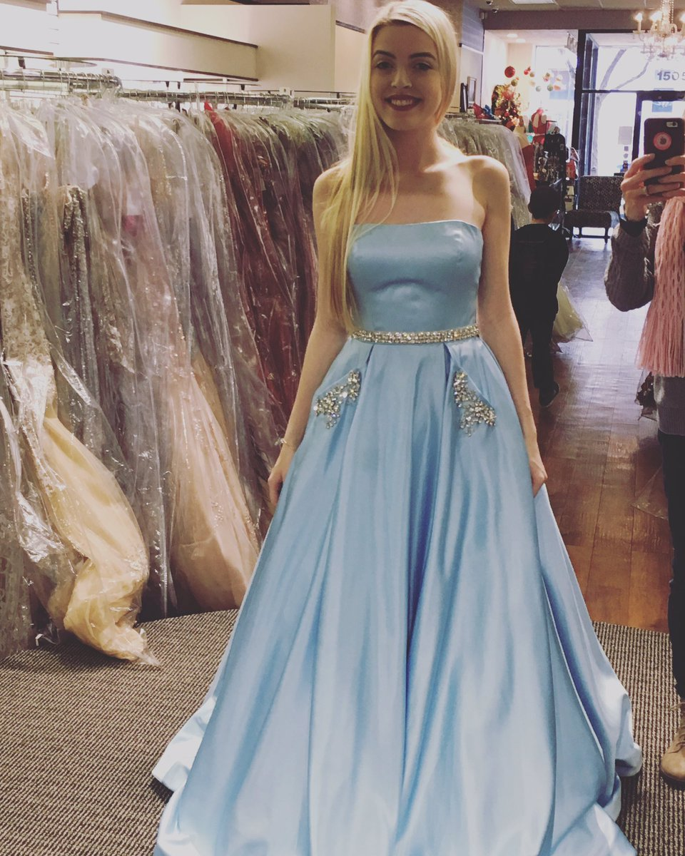 Light Blue Long Satin Prom Dress cac1e0aff9d2