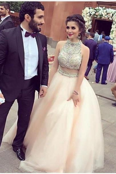 632d776b95d84 Real Nice Pink Two Pieces Prom Dresses,Princess Prom Dress,Quinceanera  Dresses,Pretty Party Dresses,Modest Evening Dresses,Dresses For Teens