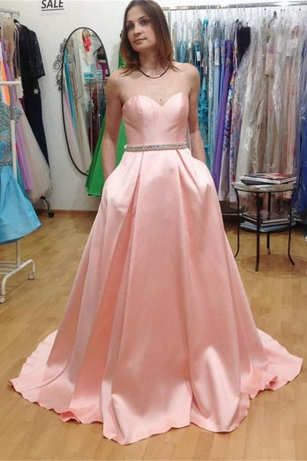 Long Sweetheart Prom Dresses