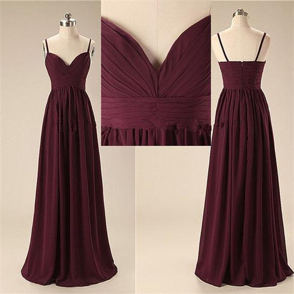 Simple Spaghetti Long Prom Dresses 649fb1ce7