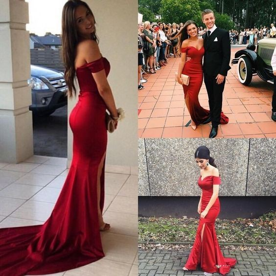 fc60c057f33d Wine Red Prom Dresses