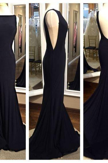 Prom Dress,Sabrina Prom Dress,Backless Prom Dress,Chiffon Prom Dress,Mermaid Evening Dress