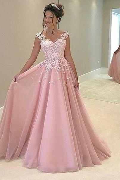 prom dresses,pink prom dresses,lace pink prom party dresses,cheap prom evening dresses