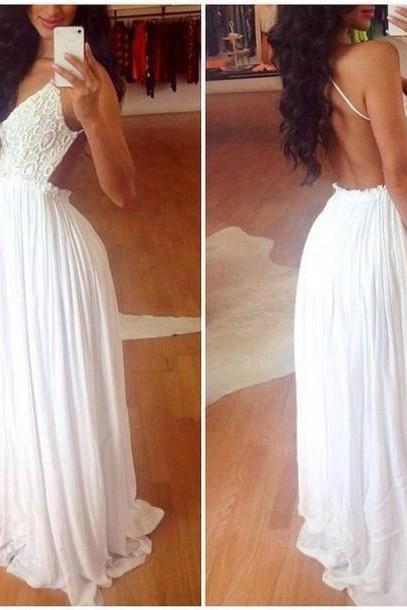 Sexy Prom Dress,white Prom Dress Prom Dresses,Prom Party Dress,Prom Dresses