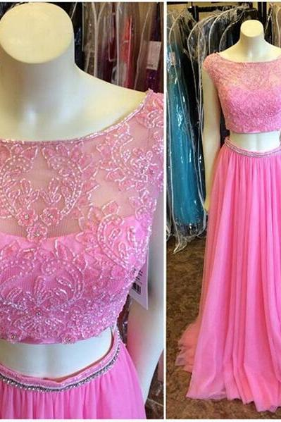 Plum Cap sleeves Prom Dresses,Two Pieces Long Prom Dresses,Boat Neck Beaded Prom Gowns,Evening Gowns ,Graduation Dress,Formal Women Dresses