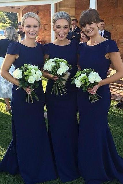 Bridesmaid Dresses, Mermaid Long Bridesmaid Dress, Elegant Lace Bridesmaid Dress, Wedding Guest Dress, long bridesmaid dress, dress for wedding, wedding party dress, 20508Royal blue bridesmaid dress, simple short sleeve bridesmaid dress, cheap mermaid bridesmaid dreess, elegant simple bridesmaid dress, long bridesmaid dress