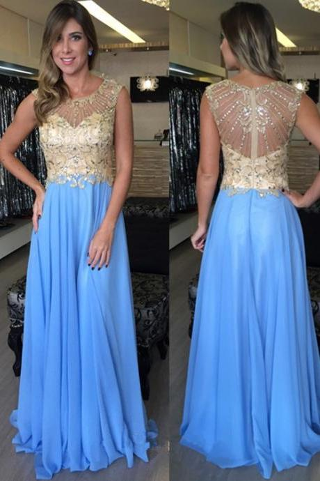 Charming Prom Dress,Sleeveless Chiffon Prom Dress,Sexy Evening Dress,Long Party Prom Dresses