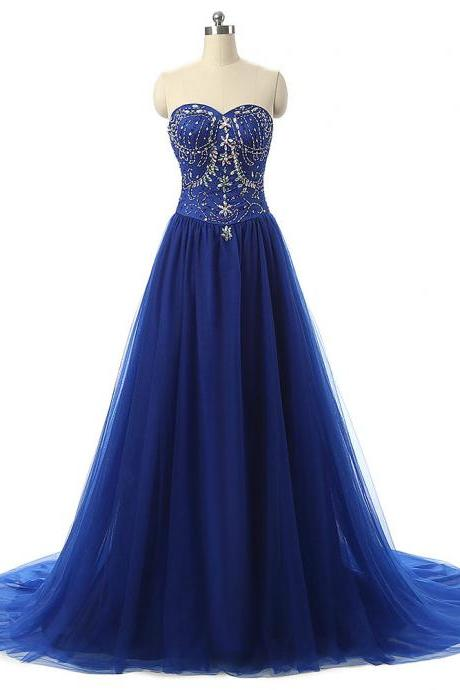 Sleeveless Backlesss Prom Dress,Beaded Prom Dresses,Sexy Evening Dress,Formal Dress