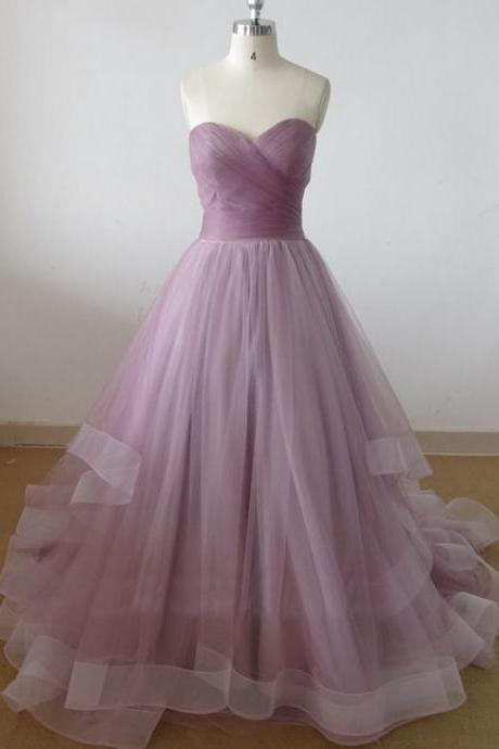 sweetheart tulle prom dress, long prom dress, cheap prom dresses, prom dresses, elegant prom dresses, Bridal Gownsprom dresses,custom prom dresses