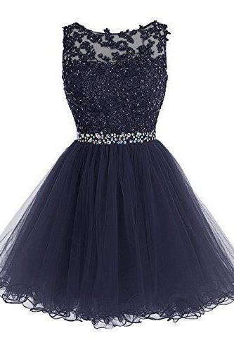 Homecoming Dress,Sexy Luxurious Short Homecoming Dress ,Crystals Appliques Royal Blue Prom Dress, Beaded Tulle Homecoming Dress, Formal Dresses, High Quality Party Dresses,High Quality Graduation Dress,Wedding Guest Dress