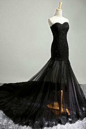 Sweetheart Mermaid Charming Prom Dresses,Long Evening Dresses,Prom Dresses On Sale