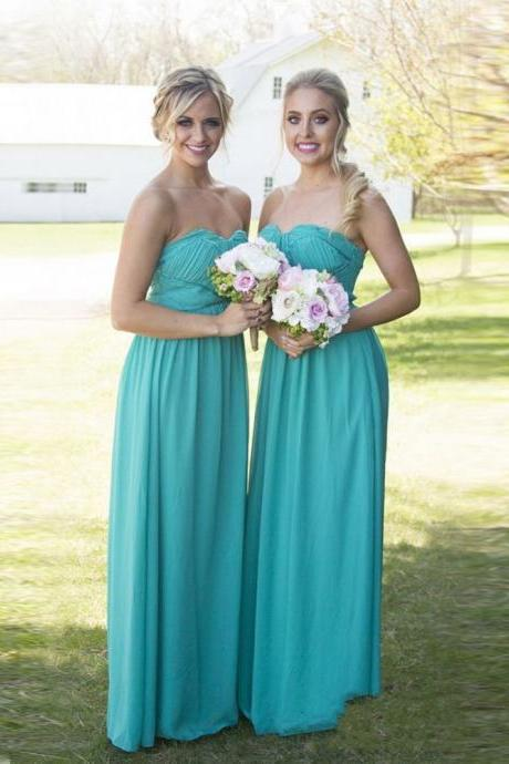 Chiffon Bridesmaid Dress,Long Chiffon Bridesmaid Dresses,Blue A Line Chiffon Evening Dresses, Long Prom Dress, Sexy Party Dress,Sweetheart Prom Dresses,Long A-line Formal Gowns,Long Chiffon Evening Dress
