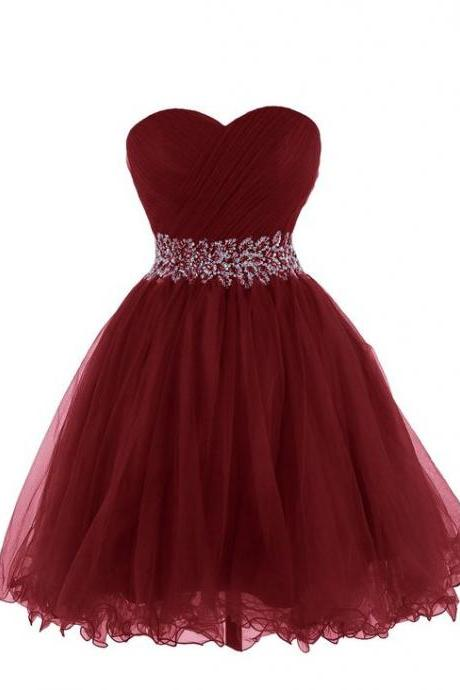 Ball Gown Homecoming Dress, sweetheart Homecoming Dress, with sash Homecoming Dress, Short Mini Backless Homecoming Dresses, prom Dress, Homecoming Dresses