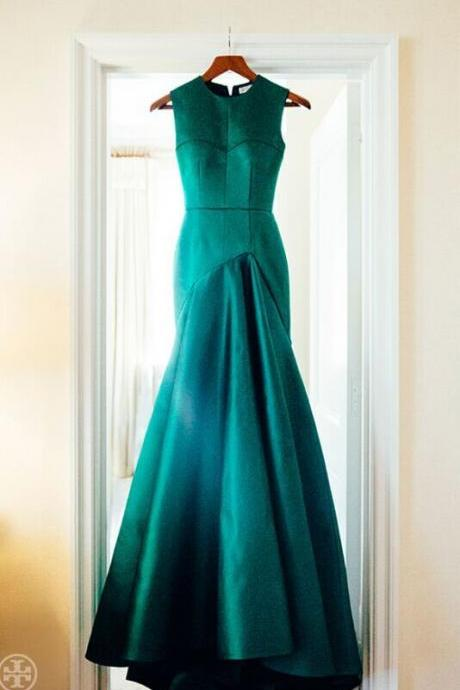 Green Prom Dress, Elegant Evening Dresses,Ankle Length Prom Dresses
