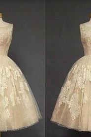 Custom Lace Homecoming Dress, Champagne Prom Dresses, Sleeveless Homecoming Dresses, Sexy Homecoming Dresses