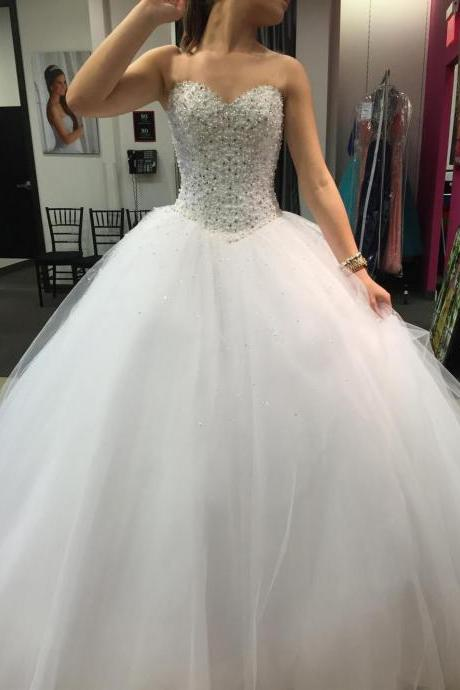 White Ball Gowns Wedding Dress,Wedding Dresses,Prom Dresses,Quinceanera Dresses,Lace Up Prom Gowns,Elegant Prom Dresses,Evening Dresses,Quinceanera Dresses