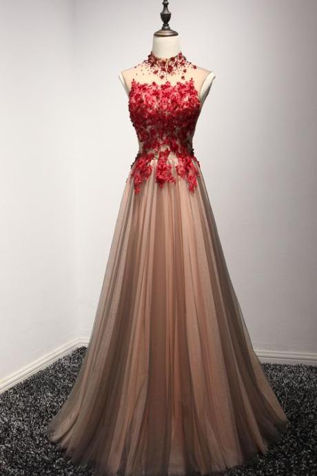 High Neck Prom Dresses,Tulle Prom Dresses,Long Prom Dresses,Lace Prom Gowns,Prom Dresses,Prom Dresses For Teens,Open Back Prom Dress,Evening Dresses,Evneing Gowns,Cute Dresses Sparkly Prom Dresses