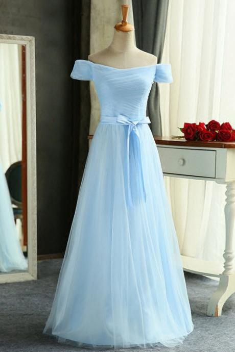 Light Blue Prom Dress,Tulle Prom Dresses,A-line Prom Dress,Off Shoulder Prom Dress,Long Prom Dress,Prom Dresses For Teens,Classy Prom Dress,Bridesmaid Prom Dress,Cute Dresses