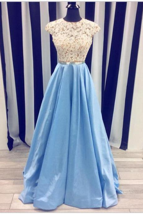 Lace Prom Dress,Light Blue Prom Dresses,Long Prom Dresses,A-line Prom Dress,Elegant Prom Gowns,Charming Evening Dresses,Princess Prom Dress,Women Dresses,Cute Dresses,Prom Dresses For Teens