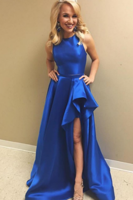 Royal Blue Prom Dress,Satin Prom Dresses,Long Prom Dresses,Simple Prom Dress,Cheap Prom Dresses,Handmade Prom Dresses,Evening Dresses,Party Dresses