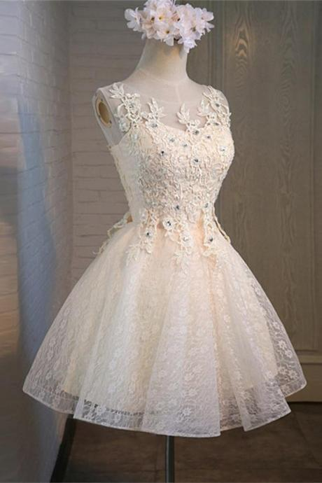 Sparkly Lace Homecoming Dress,Pretty Homecoming Dresses,Homecoming Dress