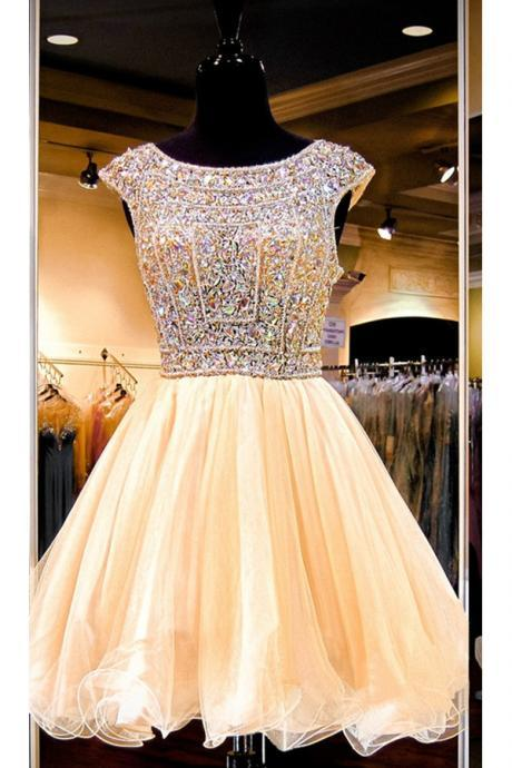 Sparkly Gorgeous Beaded Homecoming Dresses,Formal Homecoming Dress