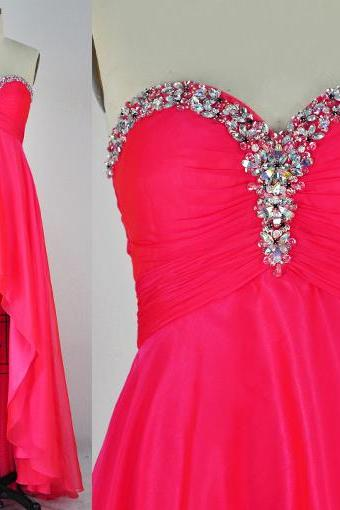 New Design Floor-Length Prom Dresses, The Charming Evening Dresses, Sweetheart Prom Dresses, Prom Dresses On Sale,