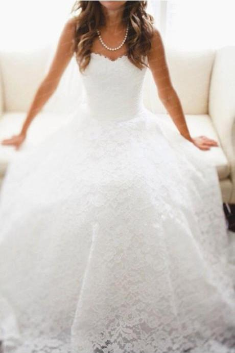 Lace Wedding Dresses,Floor-Length Wedding Dresses, Wedding Dresses, White Lace Wedding Dress,Wedding Dresses, Dresses For Wedding