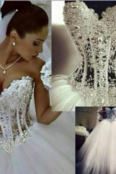 Beading A-Line Wedding Dresses,The Charming A-Line Wedding Dress,Wedding Dresses, Dresses For Wedding