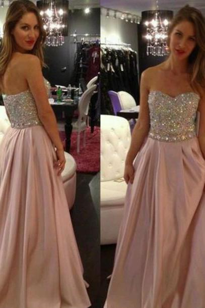 Handmade Sexy V-Neck Prom Dresses,Evening Dress,Chiffon Evening Dress,The Charming Sweetheart Evening Dress, Long Prom Dress