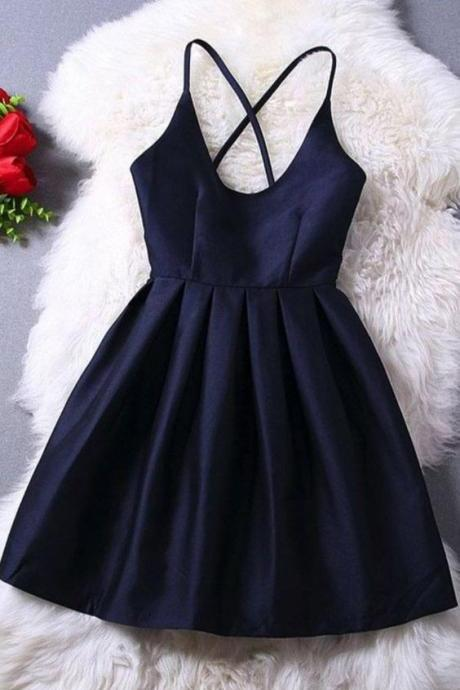 Homecoming Dresses,Cute Homecoming Dress,Short Prom Dress,Navy Blue Homecoming Gowns,Beaded Sweet 16 Dress