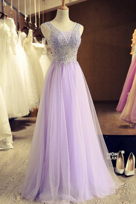 Prom Dress,Beautiful stunning tulle A-line long handmade prom dresses, Christmas party dress for teens, evening dress, bridal dress