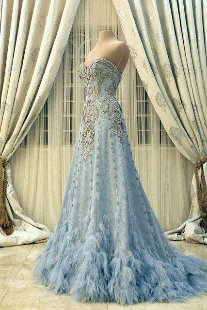 Evening Dresses, Prom Dresses,Party Dresses,New Arrival Prom Dress,Modest Prom Dress,Flower wedding dress,blue wedding dress,blue wedding dress,wedding dress