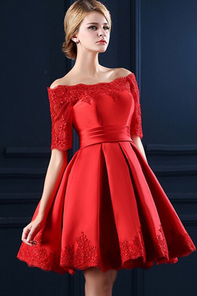 Homecoming Dresses,Junior Homecoming Dress,Red long sleeve homecoming dress, Short homecoming dress, short homecoming dresses, homecoming dress, short prom dresses, homecoming dress