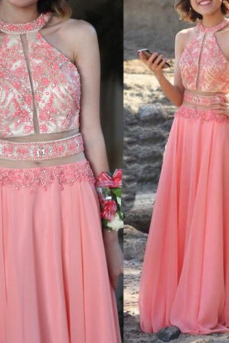 Charming Prom Dress,Chiffon Prom Dress,Beading Prom Dress,A-Line Evening Dress