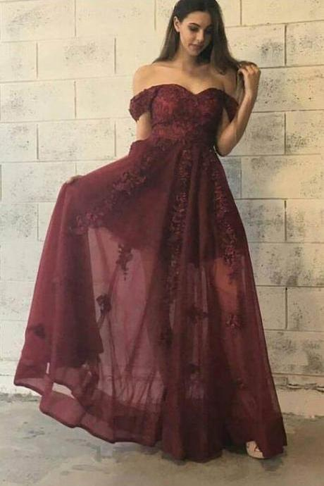 Off the Shoulder Prom Dress,Cheap Prom Dress,lace prom dress,fashion prom dress,sexy prom dress,evening dress
