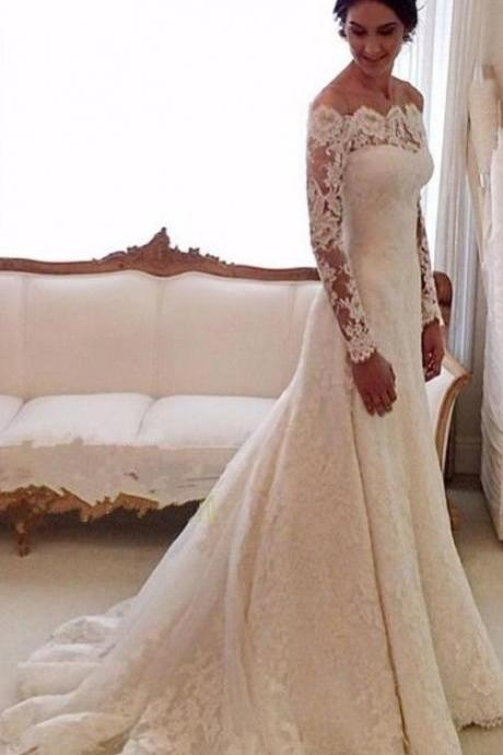 Beauty Mermaid Lace Wedding Dress,Summer Wedding Dresses, Wedding Dresses, Wedding Gown, Princess Wedding Dresses, Elegant ball gowns