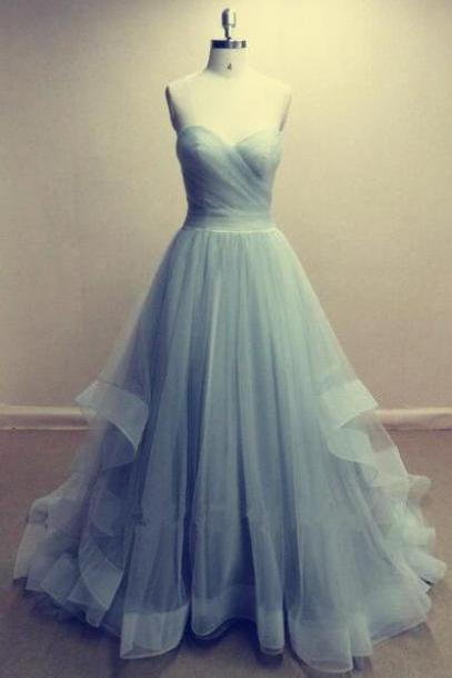Charming Long Prom Dress,Cheap Tulle Prom Dresses, Long Evening Dress , Party Dresses