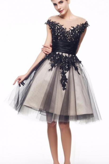 Lace Homecoming Dresses ,High Neck Champagne Tulle Homecoming Dress,Back V Short Prom Dress Party Gowns,Evening Dress,Sweet 16 Dresses,Women Skirt