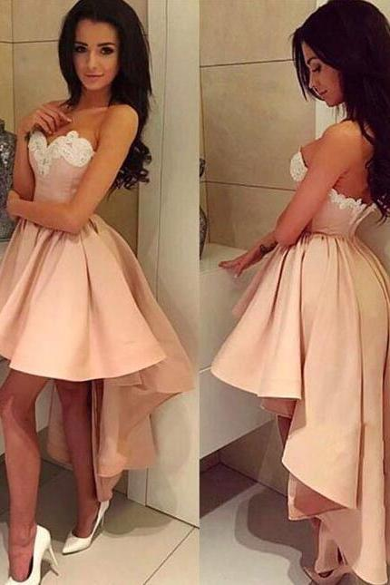 A Line Pink Homecoming Dresses,Short Prom Dress,Sweetheart Homecoming Dress,Sexy Party Dress,Short Evening Dress,Homecoming Dress