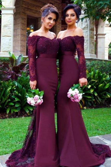Bridesmaid Dresses, Mermaid Bridesmaid Dress ,Elegant Bridesmaid Dress, wedding Guest dress