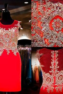 Red Lace mermaid Homecoming dresses,Elegant Prom dresses, Luxury Party dresses