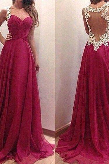 Sexy open Back Prom Dresses,Burgundy Graduation Dresses,Sexy Evening Party Dress,Prom Party Dress
