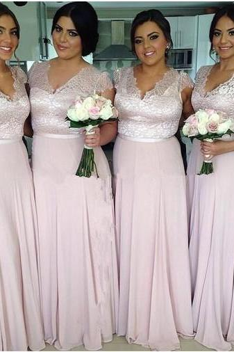 Bridesmaid Dress,Bridesmaid Dresses,Long Bridesmaid Dresses,Chiffon Bridesmaid Dress,V-neck Bridesmaid Dresses