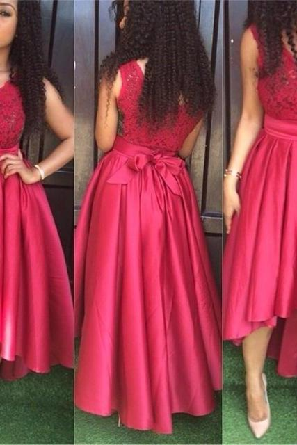 Short Front Long Back V-Neck Prom Dresses,Long Prom Dresses,Cheap Prom Dresses, Evening Dress Prom Gowns, Formal Women Dress,Prom Dress